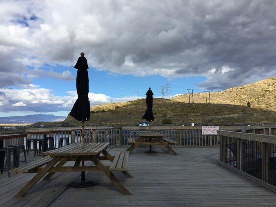 Twizel, New Zealand: outdoor seat