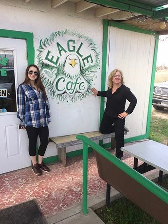 Eldorado, TX: Eagle Cafe Hours, phone papas locos, big burrito and exterior view