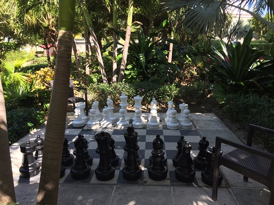 Life size chess set on property! - Picture of Seven Stars Resort