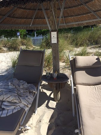 Saying good bye to our beach set up