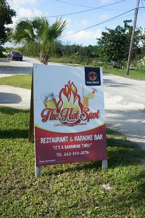 The Hot Spot Restaurant and Karaoke Bar: Roadside sign means you can't miss it!