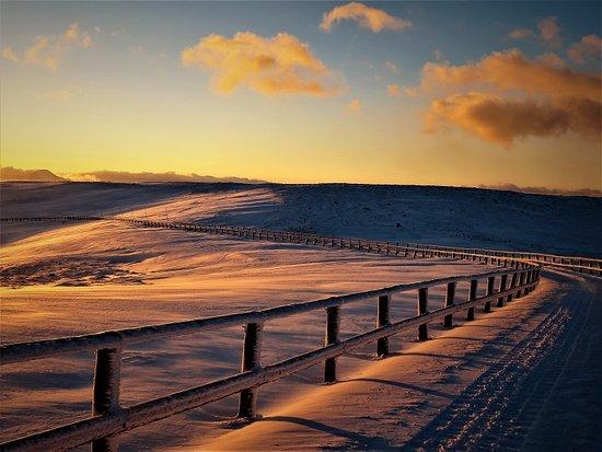 Nagawa-machi, Japan: 朝の雪上車ツアーで見える景色