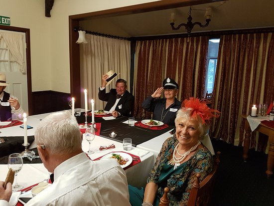 Stratford, New Zealand: Our Mystery Manor Murder night.