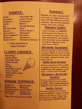 Cohoes, NY: 2017 menu page 3.