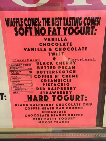 Cohoes, Нью-Йорк: 2017 yogurt flavors!