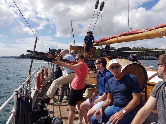 Sydney Harbour Tall Ships : Clay shooting - great fun!