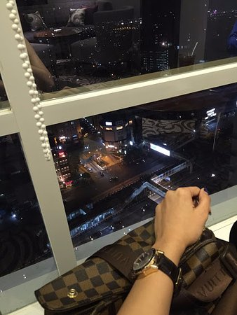jakarta city view at night in the upstairs lounge santika hotel rh tripadvisor com au
