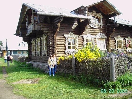 Verkhniye Mandrogi, Russland: ahşap evler mandrogi