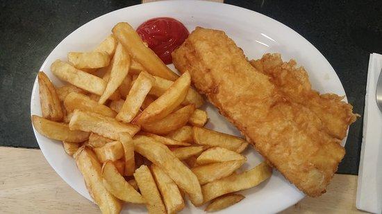 Bardsley's: Veramente buono Il pesce non è unto ed è croccante fuori e morbido dentro. La porzione media, co