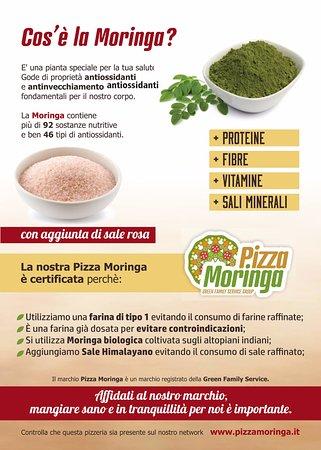 Pizza Moringa, la pizza della salute