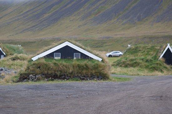Saudarkrokur, Island: кемпинг и хижины Греттислауг