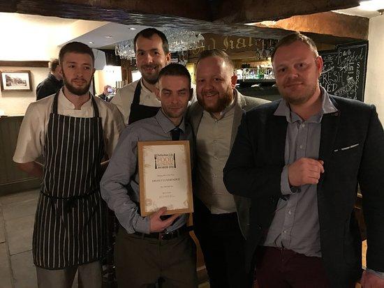 Peak District National Park, UK: Staff celebrating award