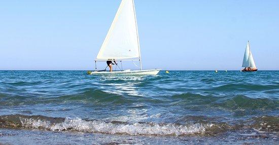 Nova Siri, Italie : Attività nautiche in spiaggia