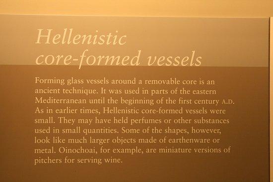 Corning, Estado de Nueva York: Hellenestic glassware
