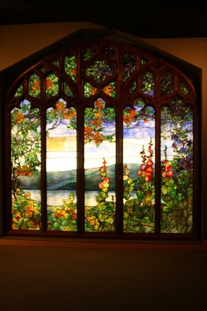 Corning, NY: A stained-glass window