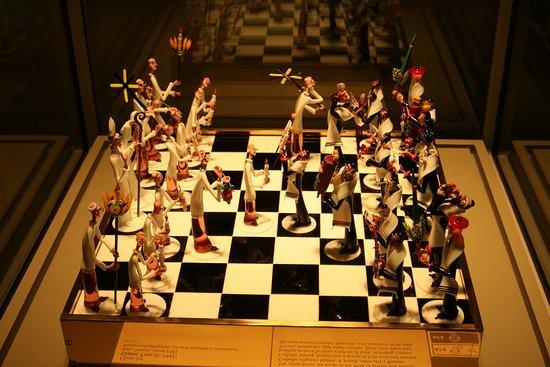 Corning, NY: I love his chess made of glass!