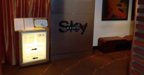 menu board for Sky Waikiki