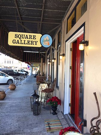 Our storefront, on the Historic Goliad County Courthouse Square!