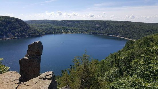 Baraboo, WI: Top of one of the mountain trails