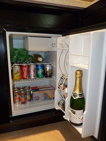 Beaches Turks & Caicos Resort Villages & Spa: Suite fridge on arrival