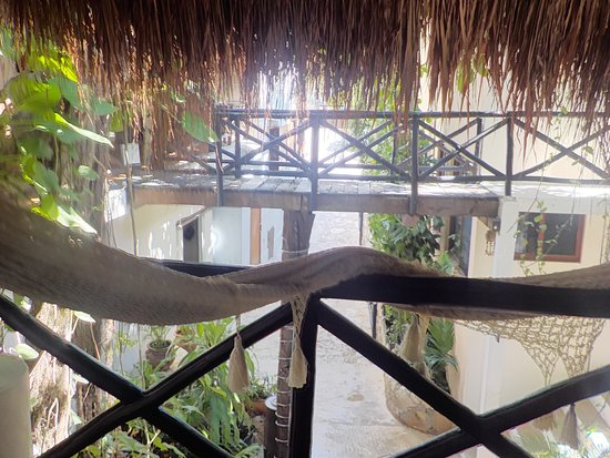 Club Yebo: Banconcito donde desayunabamos, teniamos una hamaca para relax...precioso.