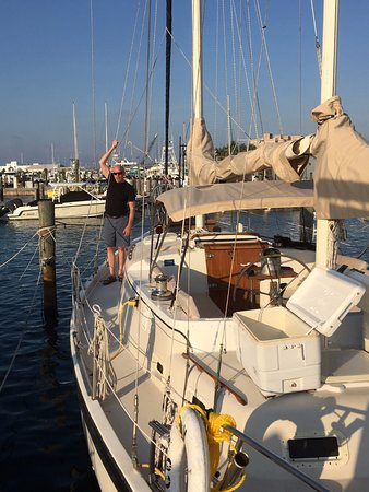 Key West Sailing Adventure: One of the dudes on our home away from home