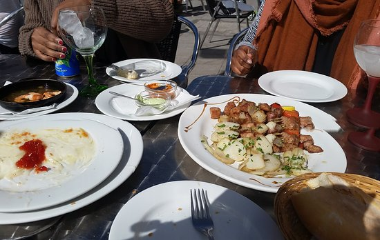 Artenara, Ισπανία: Tapas : porc et fromage fondu