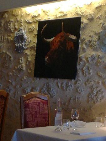 Villefranche-de-Lonchat, Francia: Petite table pour 2 personnes sympa