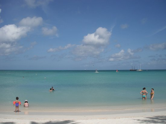 Caribbean Sea - photo from my lounge chair. - Holiday Inn Resort ...