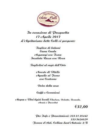 Ferrere, Italia: Ecco la nostra proposta per pasquetta!