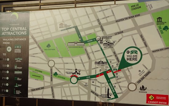 Caravelle Saigon: Map of nearby attractions