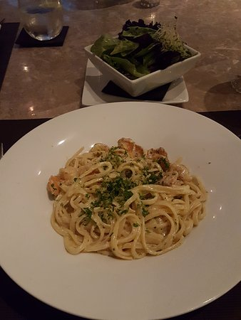 Cupecoy Bay, St-Martin / St Maarten : Pasta dish at Escape