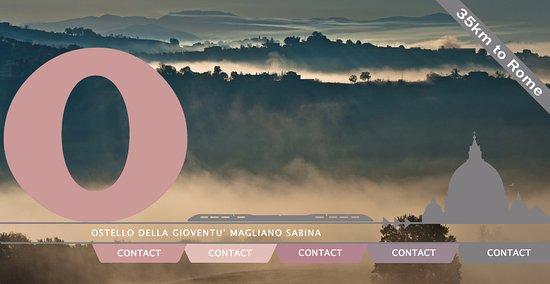 Magliano Sabina, Italy: La vista sulla valle del Tevere