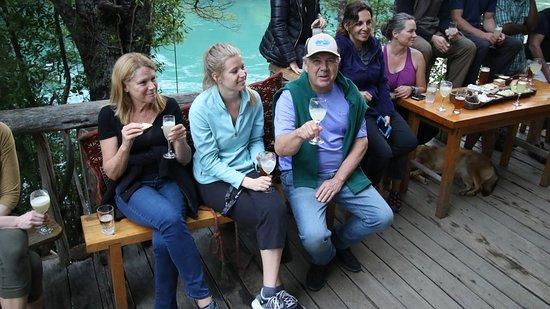 Bio Bio Camp: Welcome Happy Hour at the Riverside Bar