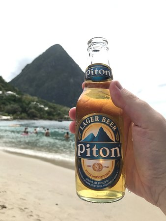 """Vieux Fort, St. Lucia: """"see the mountain, drink the beer"""""""