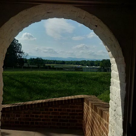 Montpelier Station, VA: View from the entrance to the ground floor
