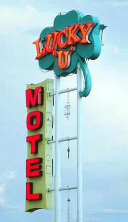 Englewood, CO: Iconic Lucky U Motel Sign