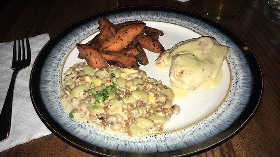 Homewood, AL: Herb Chicken, Grilled Carrots and Succotash