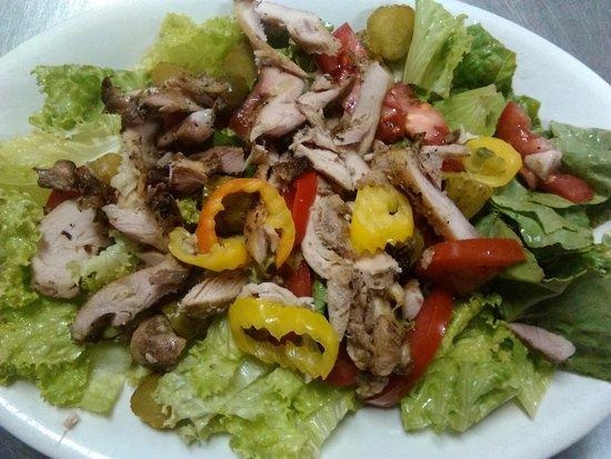 Cliftons American West Indian: jerk chicken salad