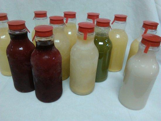 Fairburn, GA: homemade  natural drinks, cucumber, sorrel, ginger, fruit punch, and soursop