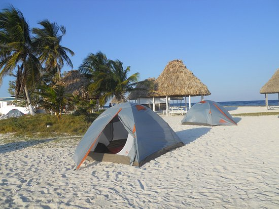 Caye Caulker, Belice: Overnight camping on Rendezvous Caye