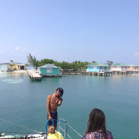 Caye Caulker, Belize: The over-water Bungalows available at Ragga Caye.