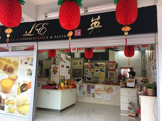 Le Cafe Confectionary & Pastry: 店頭の様子。