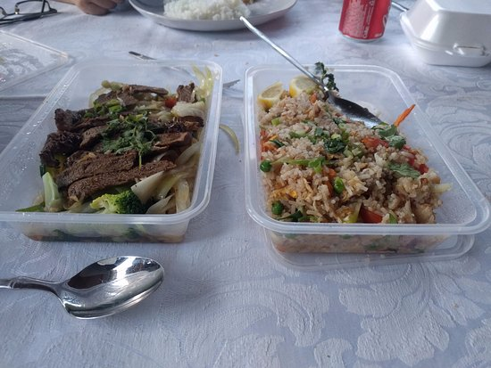 Milford, New Zealand: Beef Fillet and Fried Rice