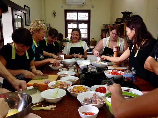 Green Bamboo Cooking School & Cafe: Green Bamboo Cooking class