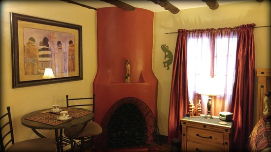Cascade, CO: The colorful Adobe Suite, a guest favorite at the inn.