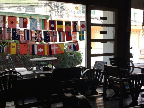 Auntie's Coffee: View facing the street
