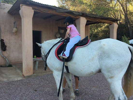 Sant Carles de Peralta, Spanien: riding in the grounds