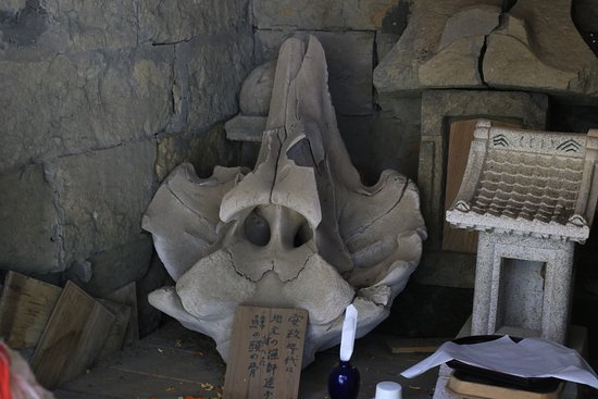 Ubara Risokyo : 鵜原理想郷:大杉神社の鯨骨