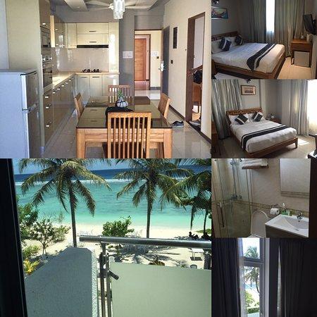 Hulhule Island: Suite avec 2 chambres salon/cuisine balcon vue sur la mer - accueil - petit déjeuner